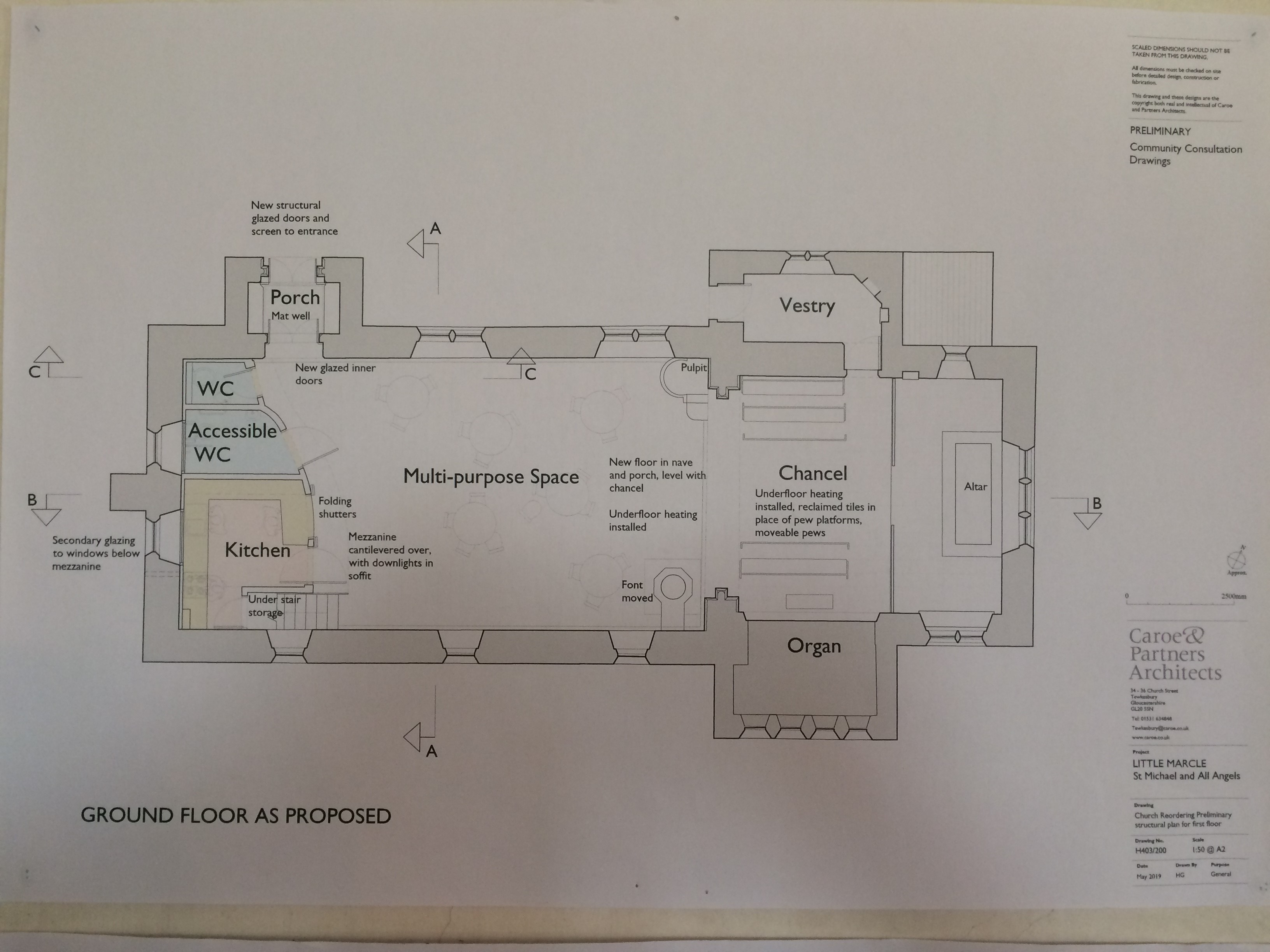 All Angels Church Plan Image Plan View